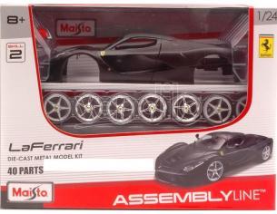 Maisto MI39129BK FERRARI LA FERRARI MATT BLACK KIT 1:24 Modellino
