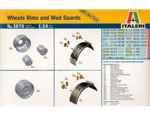 Italeri IT3870 WHEELS RIMS AND MUD GUARDS KIT 1:24 Modellino