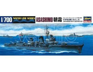 HASEGAWA 450 ASASHIMO JAPANESE NAVY IJN DESTROYER 1:700 KIT Modellino
