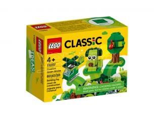 LEGO CLASSIC 11007 - SET MATTONCINI VERDI CREATIVI
