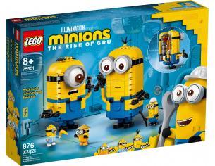 LEGO MINIONS 75551 - PERSONAGGI MINIONS E LA LORO TANA
