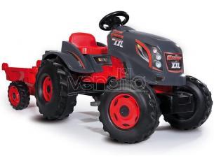 Trattore Stronger TGM XXL Rosso a Pedali con Rimorchio da 3 Anni Smoby 7600710200