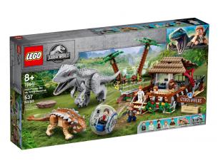 LEGO JURASSIC WORLD 75941 - INDOMINUS REX CONTRO ANKYLOSAURUS