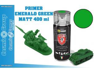 TITANS HOBBY EMERALD GREEN MATT PRIMER - 400ML SPRAY COLORI