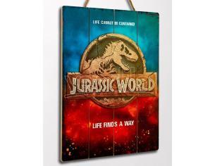 Doctor Da Collezionejurassic World Logo In Legno Poster Poster