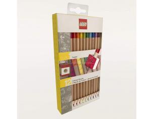 Lego Set di 12 Matite Colorate con Topper JoyToy
