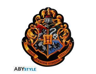 "Harry Potter - Piastra in Metallo ""Hogwarts"" Con Gancio 28 x 32 cm"