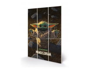 Mandalorian The Bambino Small Wood Print Stampa Su Legno Pyramid International