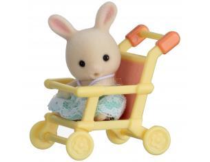 Sylvanian Family 5200 - Bebè Coniglio e passeggino