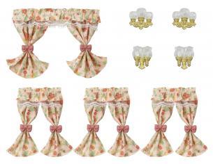 Sylvanian Family 5447 - Set lampade da parete e tende