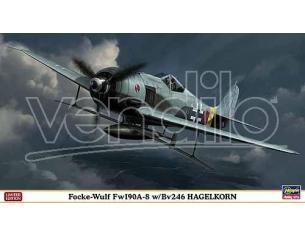 HASEGAWA 09933 FOCKE WULF FW190A-8 W/BV246 HAGELKORN 1:48 KIT Modellino