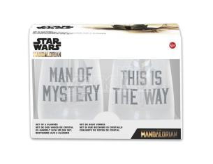 Star Wars The Mandalorian Set Di 2 Cristallo Bicchieri Stor