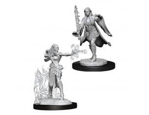 D&d Nolzur's Marvelous Miniatures Unpainted Multiclass Warlock & Sorcerer Female Case (6) Wizbambino