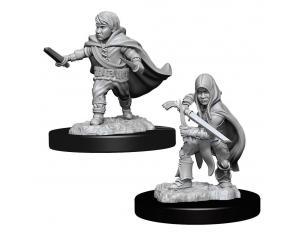 D&d Nolzur's Marvelous Miniatures Unpainted Miniatures Halfling Rogue Male Case (6) Wizbambino