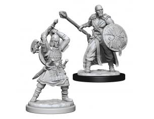 D&d Nolzur's Marvelous Miniatures Unpainted Miniatures Human Barbarian Male Case (6) Wizbambino