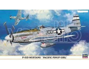 HASEGAWA 09903 P-51D MUSTANG PACIFIC PINUP GIRL 1:48 KIT Modellino