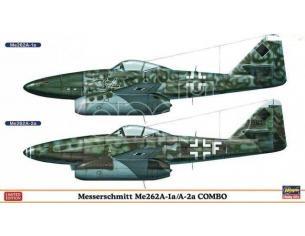 HASEGAWA 01915 MESSERSCHIMITT ME262A-1A/A-2A COMBO 1:72 KIT Modellino