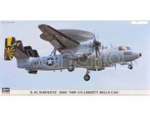 HASEGAWA 00996 E-2C HAWKEYE 2000 VAW-115 LIBERTY BELLS CAG 1:72 KIT Modellino
