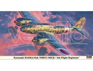 HASEGAWA 09836 KAWASAKI KI45KAI KOH TORYU NICK 4TH FLIGHT REGIMENT 1:48 KIT Modellino