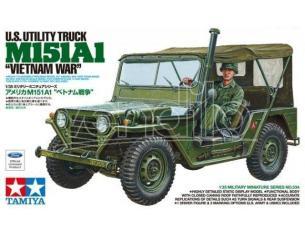 TAMIYA 35334 US UTILITY TRUCK M151A1 VIETNAM WAR 1:35 KIT  Modellino