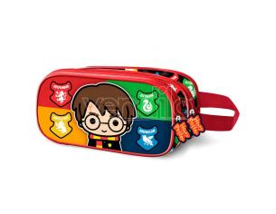 Harry Potter Astuccio Doppio Harry con Bacchetta 3D Karactermania