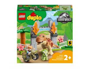 LEGO JURASSIC WORLD 10939 - FUGA DEL T.REX E DEL TRICERATOPO