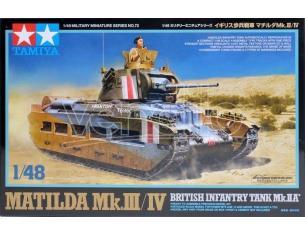 Tamiya TA32572 MATILDA MK III BRITISH INFANTRY TANK MK 1/48 KIT MONTAGGIO Modellino SCATOLA ROVINATA
