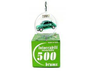Brumm BR004-02 Fiat 500D (1960) verde cromo John Green CHRISTMAS 2007 Ball Intoccabili 1:43 Modellino