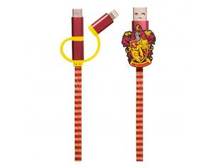 Harry Potter Cavo Retrattile Hogwarts 3 in 1 Grifondoro Thumbs Up