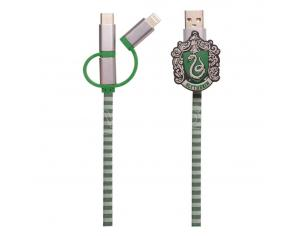 Harry Potter Cavo Retrattile Hogwarts 3 in 1 Serpeverde Thumbs Up