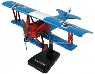 New Ray 20223 Skypilot 1^ War Etyle Fokker D. VII Blu e Rosso 1/48 Modellino