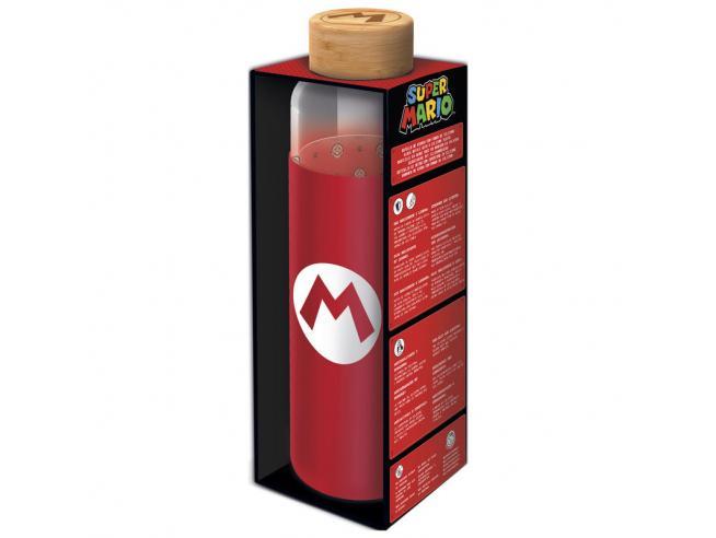 Nintendo Super Mario Bros Silicone Cover Bottiglia Di Vetro 585ml Stor