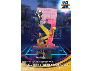 Space Jam: A New Legacy D-Stage PVC Diorama Sylvester & Tweety & Daffy Duck New Version 15 Cm Beast Kingdom Toys