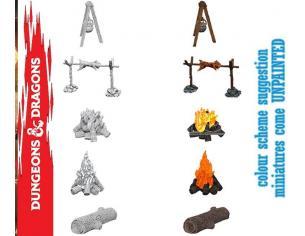 Wizbambino Wizbambino Um Camp Fire & Sitting Log Miniature E Modellismo