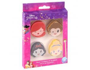 Disney Princess Pack 4 Gomma Per Cancelleria Cerdà