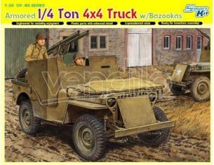 Dragon D6748 4x4 ARMORED TRUCK W/BAZOOKA KIT 1:35 Modellino