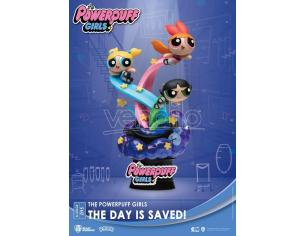 The Powerpuff Girls D-Stage PVC Diorama The Day Is Saved Standard Version 15 Cm Beast Kingdom Toys