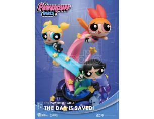 The Powerpuff Girls D-Stage PVC Diorama The Day Is Saved New Version 15 Cm Beast Kingdom Toys