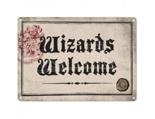 Harry Potter Tin Sign Wizards Welcome 21 X 15 Cm Half Moon Bay