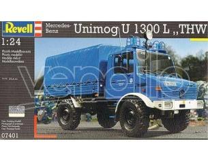 Revell 7401 MERCEDES BENZ UNIMOG U 1300L KIT 1:24 Modellino