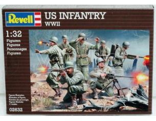 Revell 02632 US INFANTRY WWII 1:32 Kit militari Modellino