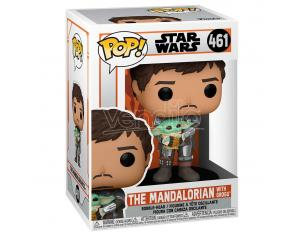 Pop Figura Star Wars Mandalorian Mando Holding Bambino Funko