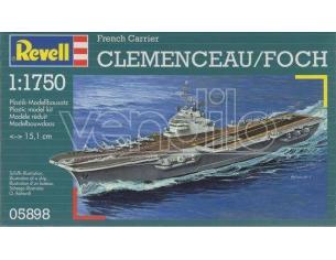 Revell 05898 FRENCH CARRIER CLEMENCEAU/FOCK 1:1750 Kit Modellino