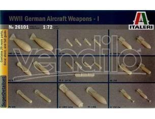 Italeri IT26101 GERMAN AIRCRAFT WEAPONS 1:72 Modellino