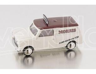 Bub 09152 MINI VAN MORRIS MINI IVORY-DARK RED Modellino